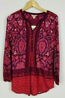 Lucky Brand Women's Small NWT Long Sleeve Boho Peasant Tunic Top MSRP $59.50