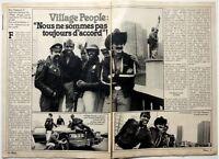 VILLAGE PEOPLE => coupure de presse BELGE 2 pages 1980 //  CLIPPING