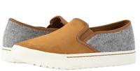 NIB SOREL Women's Campsneak Slip On Leather/Felt Shoes in Camel Brown