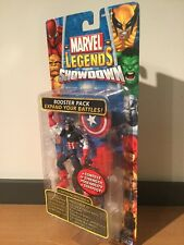 MOC Marvel Legends Showdown Captain America Booster Pack Toy Biz  2005