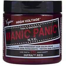 Manic Panic Semi-Permament Hair Color Cream, Infra Red 4 oz