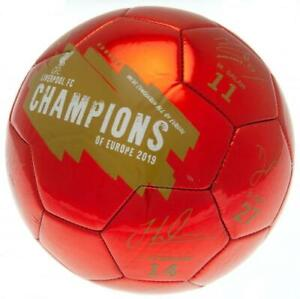 LIVERPOOL FC CHAMPIONS of EUROPE SIGNATURE FOOTBALL SIZE 5