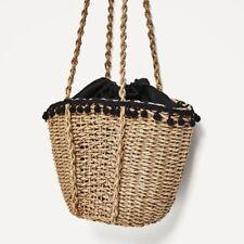 Women Straw Woven Beach Tote Bohemia Crossbody Bag Shopping Handbag Vintage New