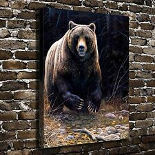 In Harms Way Bear Animal Painting HD Print on Canvas Home Decor Wall Art Picture