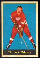 1960 61 PARKHURST HOCKEY #24 JACK MCINTYRE EX DETROIT RED WINGS card