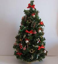 Doll House Shoppe Red White Ultimate Music Christmas Tree dhs49104 Miniature