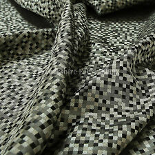 10 Metres Of New Small Square Modern Pattern Interior Upholstery Fabric Grey
