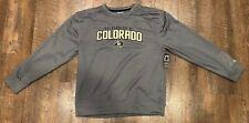 New University of Colorado Buffaloes Cu BuffsPolyester Gray Sweatshirt Large L