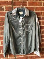 Anthropologie Maeve Shirt Top MSRP $128 Mint Green Velvet Blouse NWT Size 0