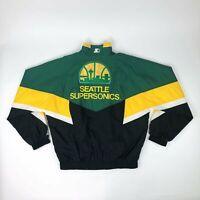 VTG NBA Seattle SuperSonics Sonics Starter Windbreaker Jacket Adult Large