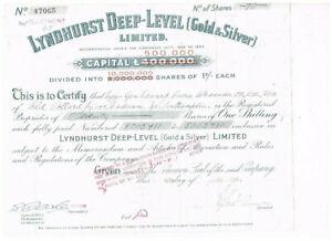 Lyndhorst Deep-Level (Gold & Silver) Ltd., 1947, VF