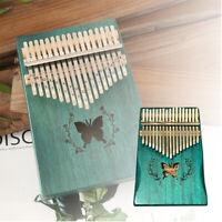17 Key Kalimba Thumb Piano Finger Mbira Mahogany Wood Keyboard Music Instrument