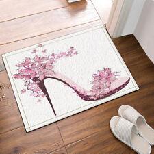 Kitchen Bath Bathroom Shower Floor Home Door Mat Rug Butterfly high heels