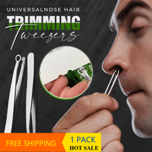 Stainless Steel Eyebrow Nose Hair Cut Universal Nose Hair Trimming Tweezers AU