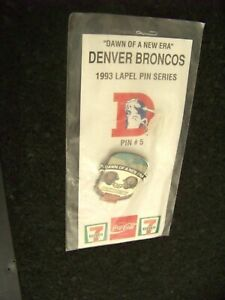 1993 Denver Broncos 7-11 Coca-Cola pin #5 vs Pittsburgh Steelers coke