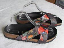 NEW Papillio By Birkenstock Daytona Ladies Multi Floral Sandals Size 7.5 EU 41