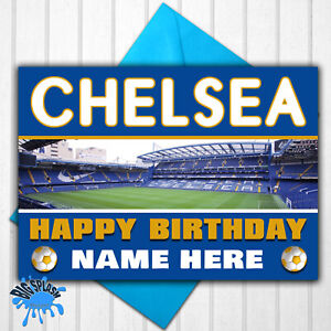 Chelsea Personalised Birthday Card Any Name or Relative Age 21,30,40,50 etc