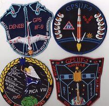 Original USAF 45SW CCAFS GPS II F-2, F-8, F-9(x2)  Launch Patch Set - 4pcs Mix