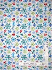 Christmas Snow Days Snowflake Toss Cotton Fabric Benartex 3657 White  - Yard