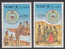 OMAN: 1986 17th Scout Camp, Salalah  SG 327-8 MNH