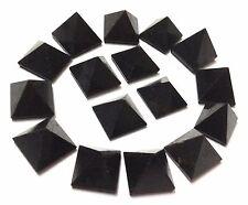 LOT OF 9 BLACK TOURMALINE CRYSTAL PYRAMIDS BAGUA GIFT REIKI HEALING FENG SHUI
