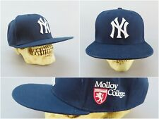 New York Yankees Snapback Baseball Cap with Embroidered Molloy College Logo