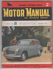 Motor Manual 1953 Aug 89 Jaguar XK120C Mk 7Vauxhall Velox Studebaker Rover Gas T