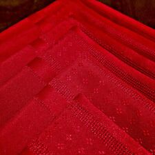 """Set of 6 . 17"""" Red Table Linens Fabric Polyester Woven Napkins CHRISTMAS HOLIDAY"""