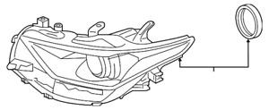 Genuine Toyota Headlight (Right) 81130-12C50
