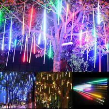 8*50CM Meteor Shower Falling Star Rain Drop Icicle Fall LED String Lights Xmas