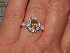 CITRINE & NATURAL CAMBODIAN ZIRCON RING-SIZE U-2.695 CARATS