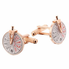 Rose Gold Finish ships Engine Room Telegraph Cufflinks NEW in Box