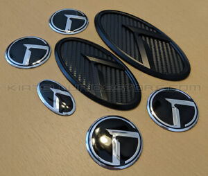 3.0 K KLexus Badges - Black Carbon w/Black K & Edge - for ALL Kia Models
