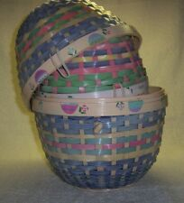 Wicker Nesting Easter Eggs Baskets Two Fit Inside Each Other