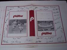 Philadelphia Phillies Memorabilia Vintage Book Cover Facsimile Autographs
