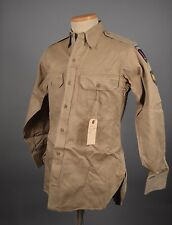 WW2 WWII Khaki SHIRT Patches FLAMING SWORD SHAEF PATCH ARMY SPECIALIST #1