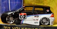 JADA 02 2002 VOLKSWAGEN VW GTI V DUBS COLLECTIBLE RACE STYLE COLLECTIBLE CAR BLK