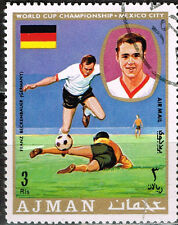 Romania Famous german Football Soccer Player Beckenbauer stamp 1970