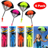 4pcs Hand Throwing Kids Mini Play Parachute Toys Soldier Outdoor Sports Children