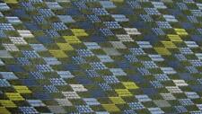 NORDSTROM BLUE GREEN DIAMOND STRIPE SILK NECKTIE TIE MJL3019A #Y08