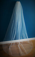 Bridal Veil*Chapel Length*the falling star crystal veil*Swarovski crystal *