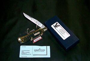 "Schrade Linerlock Knife ""Little Bandit"" Green Bone Parker Frost USA 1978-5 W/Box"