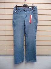 Ladies Jeans Blue Size 14 Sheego Bootcut Casual (g008