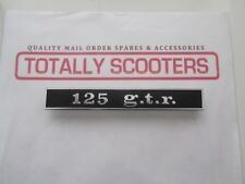 VESPA 125 GTR RECTANGULAR REAR FRAME BADGE - ITALIAN MADE