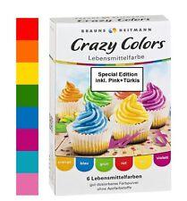 Lebensmittelfarbe Crazy Color 8 Farben im Set Brauns Heitmann