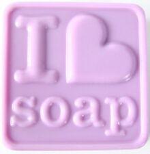 I Heart  3 Soap -  heavy duty Sheet Soap Mold