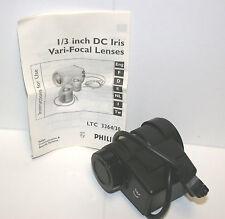 "PHiLiPS LTC 3364/30 1/3"" VARi-FOCAL LENS DC iRiS 3.5-8mm  F1.4  4-PiN"