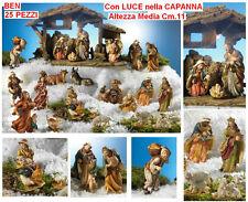 GRANDE CRÈCHE de Noël MODULABLE COMPLET et coloré BEN 25 PIÈCES Cm. 11 QS24
