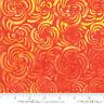 Bahama Batiks Moda cotton batik fabric by half-yard Flame #4352 23 orange