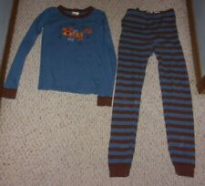 Hanna Andersson Blue & Brown Pajamas w/ Tiger on Pajama Top, 150 or US Size 12